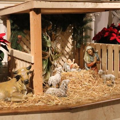 Click to view album: 2020, St. Bernard Church Christmas Decorations, Crech, Church,