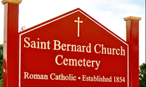 Reminder from St. Bernard Cemetery