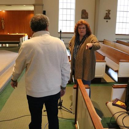 Click to view album: 20200426, Behind the Scenes of a Livestreamed Mass