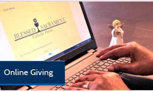 Online Giving Doubles at Blessed Sacrament!