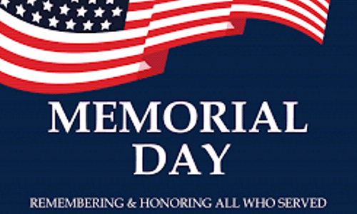 Church Offices Closed - Memorial Day - Monday, May 25th