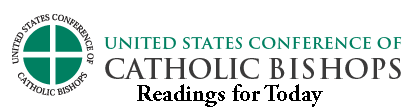 USCCB Logo and link to readings of the day.